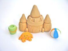 3D Sand Castle Set-fondant cake toppers