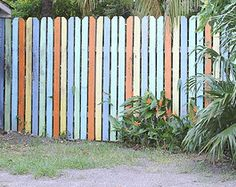 Painted Fence Accent by Urban Sea Star