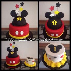 Mickey Mouse Cake and Smash cake By BeautifullyDeliciousByDanielle