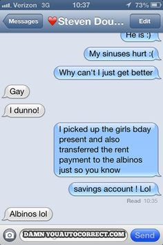 funny auto-correct texts - Gloria Mundy, Is That You?