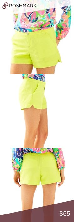 """🆕 Lilly Pulitzer Lime Scallop Shorts S