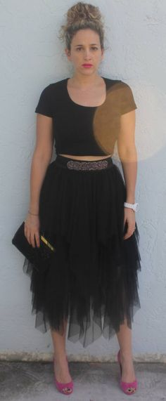 Tulle Skirt And Crop Top   The Mamanista by