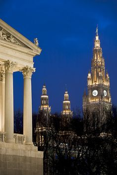 Parliament and Neues Rathaus (Town Hall), Vienna, Austria