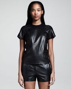 Alexander Wang leather tshirt