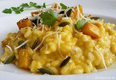 Rissoto s tekvicou Hokkaidó Risotto, Chicken Lettuce Wraps, Pumpkin Recipes, Vegetable Recipes, Vegan Vegetarian, Quinoa, Food And Drink, Cooking Recipes, Vegetables