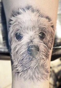 White Ink Animal Tattoo On Bicep