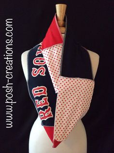 Boston Red Sox Infinity Scarf by poshCreationsCincy on Etsy, $32.00