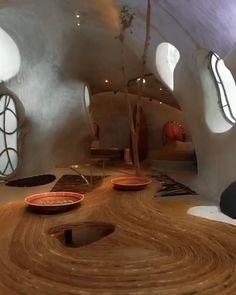 Organic Architecture, Interior Architecture, Hot Tub Room, Bubble House, Silo House, Retro Interior Design, Home Entrance Decor, Art Deco Home, Tulum Mexico