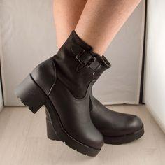 Poze Ghete negre Malina toc 5 cm Biker, Boots, Fashion, Crotch Boots, Moda, Fashion Styles, Shoe Boot, Fasion