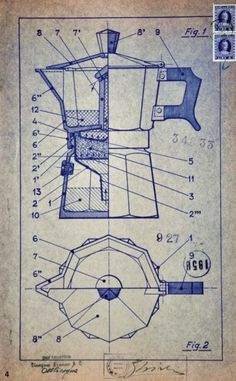 Alfonso Bialetti – Caffettiera Moka Express – 1933 – Produzione Bialetti Industrie