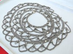 Antique ethnic tribal old silver flexible chain Belt Belly chain Rajasthan India