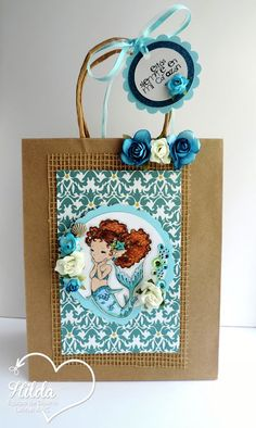 Hilda Designs: Reto #42 en LA&C: Sirenas y Tritones, Happy Little Mermaid de Aurora Wings,sellos de Latina Crafter sets Mi Dulce Amiga y No Hay Nadie como Tu