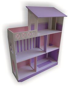 casita de muñecas barbie con ascensor y terraza, pintada!!!!