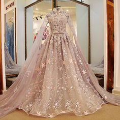 Elegant Starry Gown Sweet Princess Wedding Dress