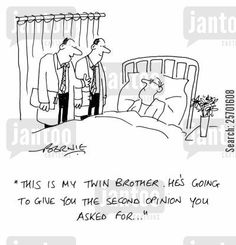 CartoonStock - 'This is my twin brother. He's going to give you the second opinion you asked for. Chronic Pain, Fibromyalgia, Hospital Cartoon, Medical Humour, You Ask, Twin Brothers, Halloween Ideas, Make Me Smile, Cave