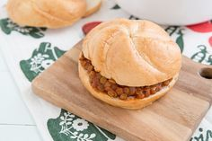 These Sloppy Lentils are like a cross between Sloppy Joes and baked beans. They make a great vegetarian sandwich, but you can have them as a side dish too!