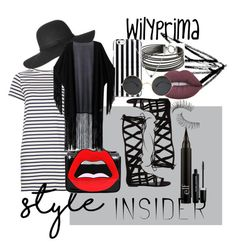 """summer monochrome style by WilyPrima"" by wilypr on Polyvore featuring Charriol, MICHAEL Michael Kors, M.i.h Jeans, Yazbukey, WithChic, Steve Madden, Lime Crime, Trish McEvoy, Marc Jacobs and contestentry"