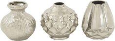 Thucydides 3 Piece Ceramic Vase Set