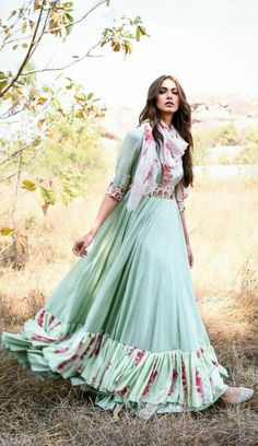 for this Tailer fit designer wear Kurti Designs Party Wear, Lehenga Designs, Indian Gowns Dresses, Pakistani Dresses, Indian Attire, Indian Outfits, Casual Dresses, Fashion Dresses, Dress Indian Style