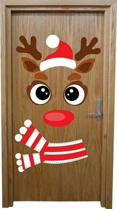 How to make super simple Christmas decorations on a budget - snowman doors # . - How to make super simple Christmas decorations on a budget – snowman doors # …, # - Christmas Door Decorating Contest, Office Christmas Decorations, Christmas Crafts For Kids, Xmas Crafts, Christmas Art, Christmas Projects, Simple Christmas, School Door Decorations, Christmas Classroom Door