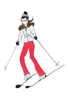 "Duchess of Cambridge Kate Middleton Fashion Sporty Kate Print 8.5""x11"" Skiing"