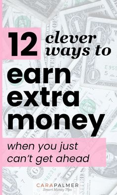 12 easy ways to earn extra money on the side - Cara Palm . Earn Money From Home, Make Money Fast, Earn Money Online, Online Jobs, Earn Extra Cash, Making Extra Cash, Extra Money, Work From Home Options, Money Management