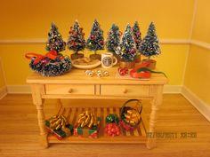 Mini Christmas Tree Workshop Table. $59.99, via Etsy.