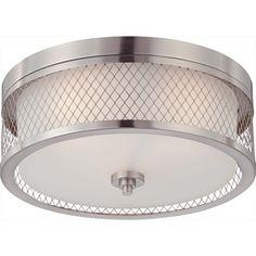 15-In W Brushed Nickel Standard Flush Mount Light