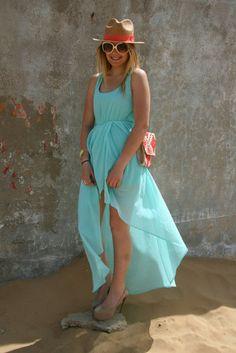 Lovely long blue turquoise dress - http://fashionable.allgoodies.net/2014/02/lovely-long-blue-turquoise-dress/