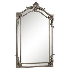 Check out this item at One Kings Lane! Nancy Antiqued Oversized Mirror, Silver