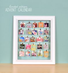 Another version of the advent calendar done with instagram pics