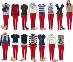 Here is Red Pants Outfit Ideas Pictures for you. Red Pants Outfit Ideas 9 ways to wear red pants outfits at work red pants outfit. Mode Outfits, Jean Outfits, Casual Outfits, Colored Jeans Outfits, Colored Pants, Outfit Pantalon Rojo, Mode Ab 50, Mode Inspiration, Mode Style
