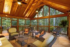 Open Rafter Cedar Ceiling Gable Roof Screened In Patio