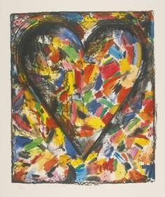 Jim Dine - The Confetti Heart I, Astra Series
