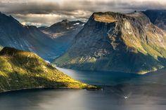 Leknes og Nordangsfjorden, Norway by Arnfinn Tønnesen Photography