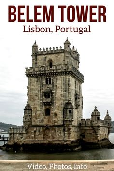 Discover the Belem Tower Lisbon, part of one of the main Unesco sites in Portugal – The Tower was built in the 16th century to protect the entrance of the city of Lisbon – Photos, Video and Tips to plan your visit   Lisbon Portugal Travel   Lisbon things to do   Lisbon Itinerary
