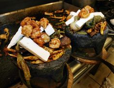 molcajete bowls | : The Molcajete dinner at Rancho Market, served in a lava-rock bowl ...