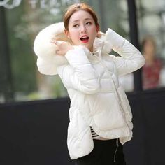>> Click to Buy << 2016 New Brand Winter Jacket Women Faux Fur Hooded Long Sleeve Parkas Woman White Short Winter Coat Woman A3947 #Affiliate