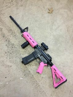 Yes we build pink AR's lol. Tuned out for your first time shooter. Magpul Pinked out, 22LR CMMG conversion kit to start out on, then comes with 5.56 BCG offering easy drop in for .223. Silent Spring Hydrolic Buffer (less kick, easier on the shoulder), Spikes Dynacomp, 3.5 lbs single stage trigger, BCM Large Latch Charging handle (easy to grab and pull), Vortex Sparc (Light and Very user friendly) for optics with a MBUS rear.
