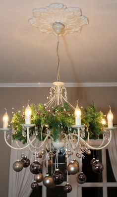 Decorate your chandelier for Christmas | Christmas Decor ...