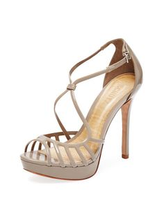 Patent Leather Platform Sandal by Schutz at Gilt