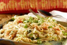 Pad thai, talharim de arroz, camaro