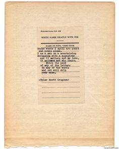 Typewriter Series #733byTyler Knott Gregson
