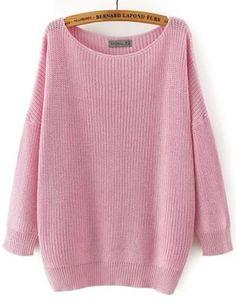 Oversized Scoop Neck Long Sleeve Loose Sweater