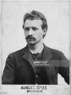 Portrait of anarchist and labor leader August Spies, who was arrested and hanged after the Haymarket Riots, Chicago, ca.1886. He was the first speaker at the rally.