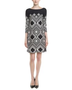 Taylor Ivory & Black Print Dress is on Rue. Shop it now.