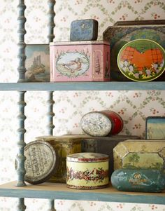 Vintage Tins - Lovely Collection and Display