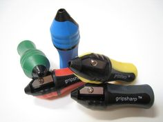 Amazon.com : GripSharp Sharpener + Pencil Grip in One. 5 Pack. Assorted Colors. : Office Products