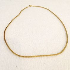 Vintage 18 Gold Chain Made Korea Beautiful Condition