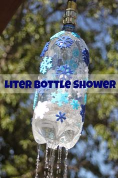 Making a Liter Bottle Shower